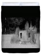 Abandoned In The Field Black And White Duvet Cover