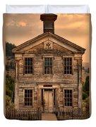 Abandoned Montana School Duvet Cover