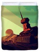 Abandoned On An Alien World Duvet Cover