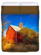 Abandoned Red Barn Duvet Cover