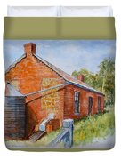 Abandoned Red Brick Cottage Near Maldon Duvet Cover