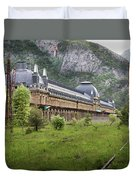 Abandoned Side Of The Canfranc International Railway Station Duvet Cover