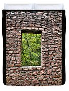 Abandoned Stone Wall With Window Duvet Cover