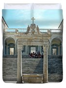 Abbey Of Montecassino Courtyard Duvet Cover