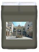 Abbey Of Montecassino Courtyard Duvet Cover