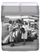 Abbott And Costello Duvet Cover
