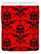 Abby Damask In Black Pattern 02-p0113 Duvet Cover