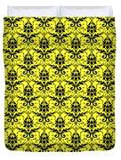 Abby Damask In Black Pattern 05-p0113 Duvet Cover