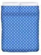 Abby Damask In White Pattern 18-p0113 Duvet Cover