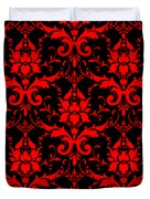 Abby Damask With A Black Background 02-p0113 Duvet Cover