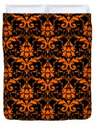 Abby Damask With A Black Background 03-p0113 Duvet Cover