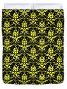 Abby Damask With A Black Background 05-p0113 Duvet Cover