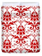 Abby Damask With A White Background 02-p0113 Duvet Cover
