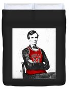 Abe Lincoln In A Bulls Jersey Duvet Cover by Roly Orihuela