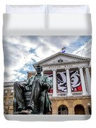 Abe On Bascom Hill Duvet Cover