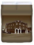 Abilene Kansas - Spruce And 3rd Sepia Duvet Cover