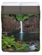 Abiqua Falls In Summer Duvet Cover