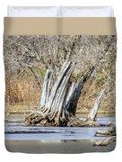 Aboriginal Stumps Duvet Cover