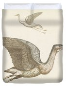 Above A Flying Crane And Beneath A Flying Pelican, Anonymous, 1688 - 1698 Duvet Cover