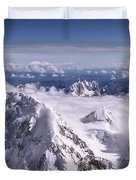 Above Denali Duvet Cover