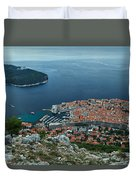 Above Dubrovnik - Croatia Duvet Cover