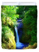 Above Onionta Falls Duvet Cover