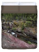 Above Redrock Falls Duvet Cover