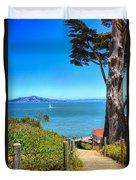 Above San Francisco Bay Duvet Cover