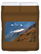 Above The Clouds In The Andes Duvet Cover