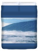 Above The Clouds Panoramic Duvet Cover