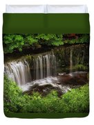 Above The Sgwd Isaf Clun-gwyn Waterfall Duvet Cover