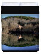 Above The Waterfall Reflection Duvet Cover