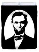 Abraham Lincoln - Black And White Duvet Cover
