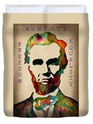 Abraham Lincoln Leader Qualities Duvet Cover