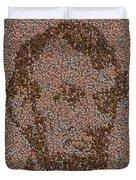 Abraham Lincoln Penny Mosaic Duvet Cover by Paul Van Scott