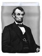 Abraham Lincoln Portrait - Used For The Five Dollar Bill - C 1864 Duvet Cover