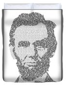 Abraham Lincoln Typography Duvet Cover