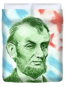 Abraham Lincoln  Duvet Cover by Yoshiko Mishina