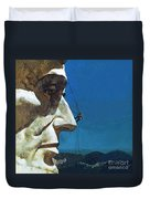 Abraham Lincoln's Nose On The Mount Rushmore National Memorial  Duvet Cover