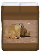 Absolutely Adorable Prairie Dog With  A Friend Duvet Cover
