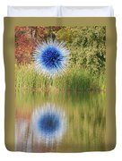 Abstact Sphere Over Water Duvet Cover