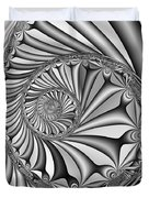 Abstract 527 Bw Duvet Cover