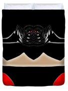 Abstract 54 Dark Side Duvet Cover