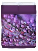 Abstract 91 Digital Oil Painting On Canvas Full Of Texture And Brig Duvet Cover