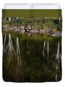 Abstract Along The River Duvet Cover