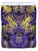 Abstract Amethyst  With Gold Marbled Texture Duvet Cover