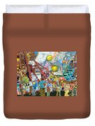 Abstract Amusement Park Duvet Cover