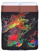 Abstract Andromeda Duvet Cover