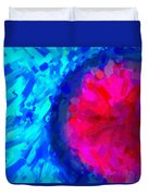 Abstract Art Combination - The Pink Martian Crater, Ca 2017, By Adam Asar ,  In 3d Watercolor Duvet Cover