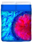 Abstract Art Combination - The Pink Martian Crater, Ca 2017, Byy Adam Asar Duvet Cover